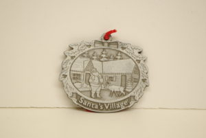 Santa's Village Pewter Ornament - $15.00