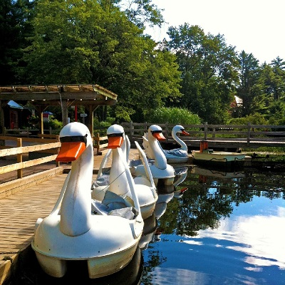 Swan Paddle Boats | Santa's Village - Muskoka, Ontario Canada