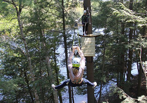 Zip Line Canopy Tour | Santa's Village - Muskoka, Ontario Canada