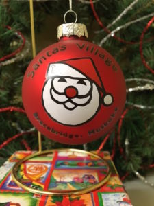 Santa's Village Ball Ornament - $15.00