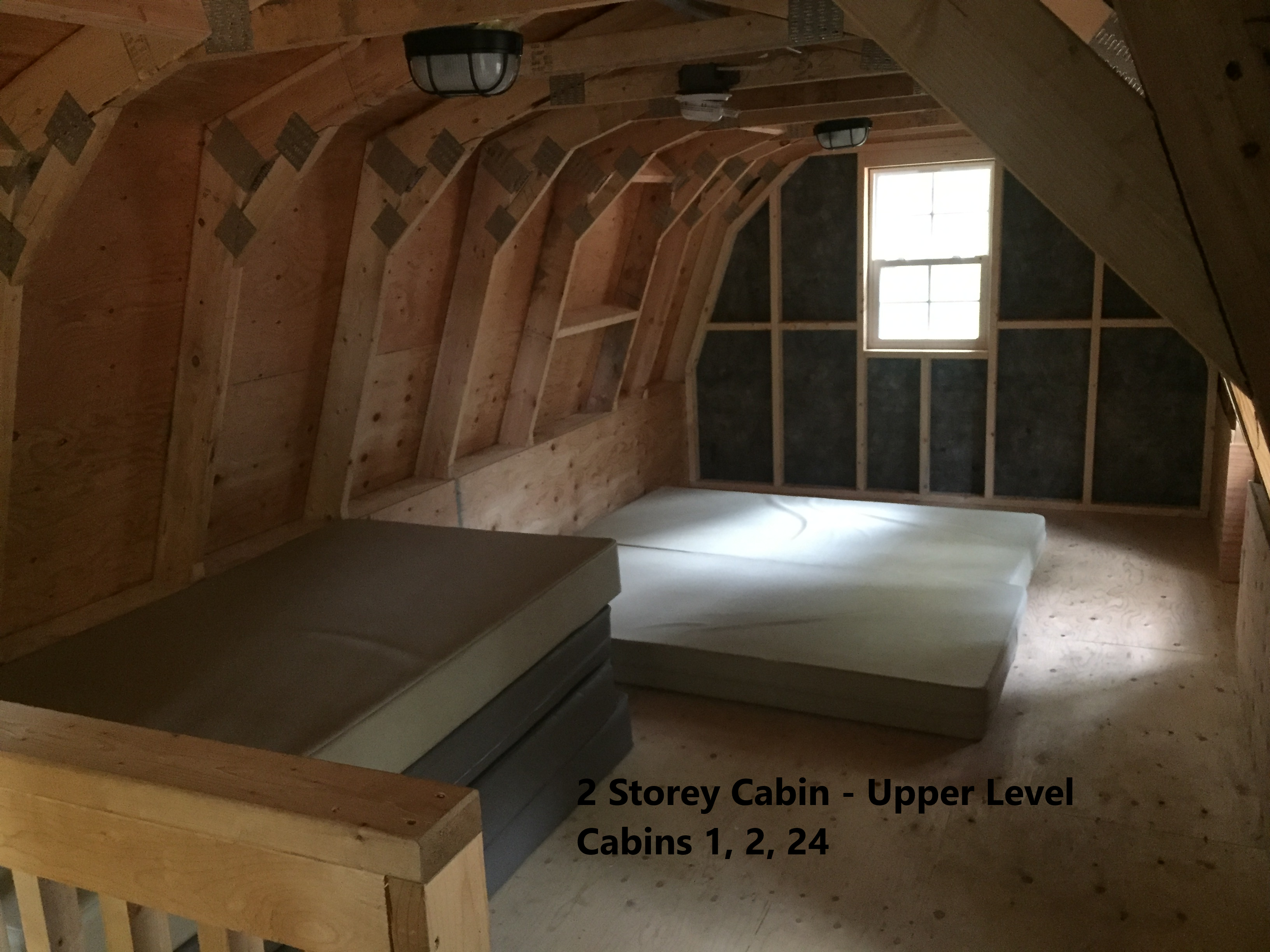 2 Storey Cabin Upper Level - Cabins 1, 2, 24