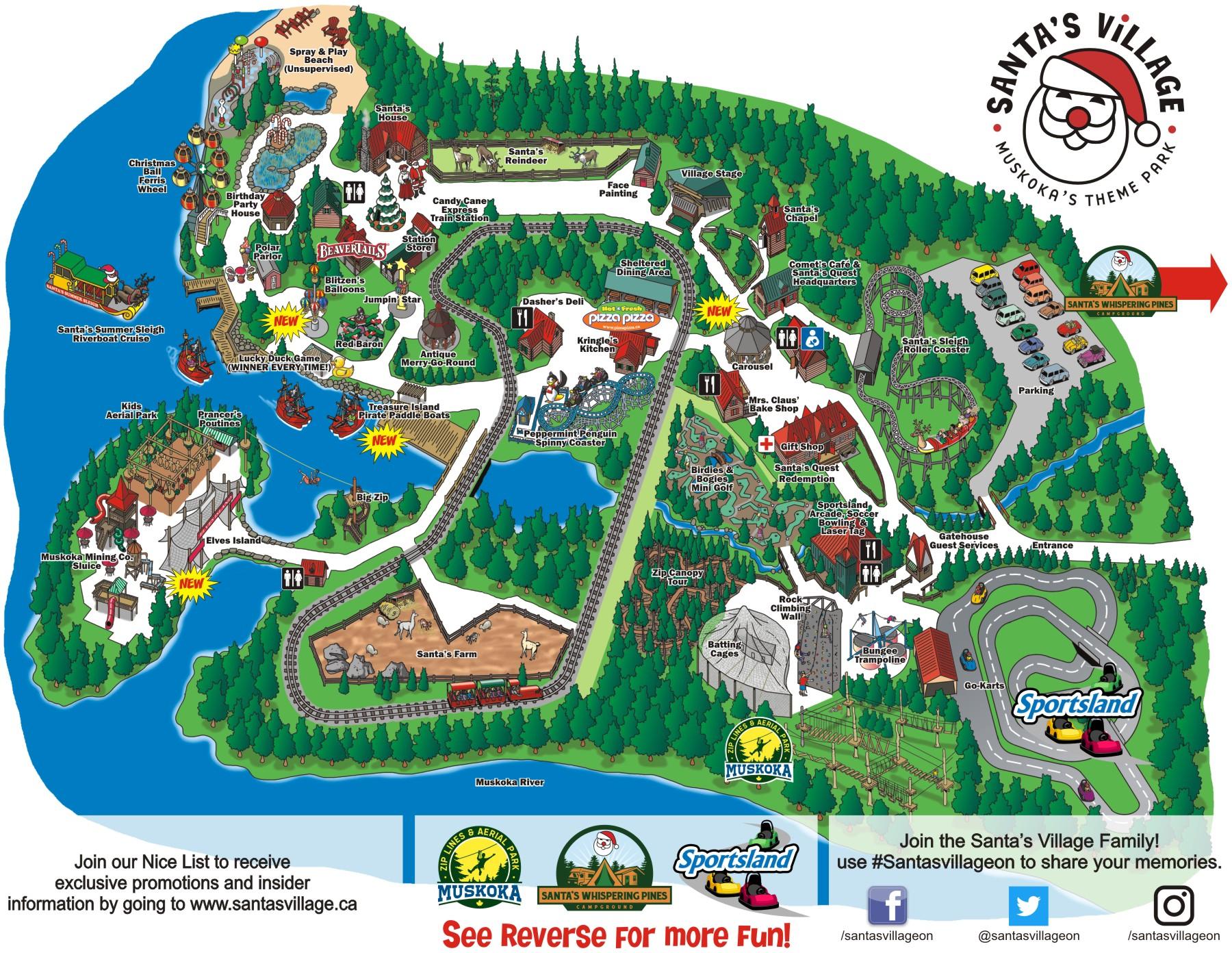 Santas Village Map