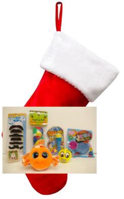 Santa Filled Stocking (Boy) - $25.00