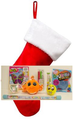 Santa Filled Stocking (Girl) - $25.00