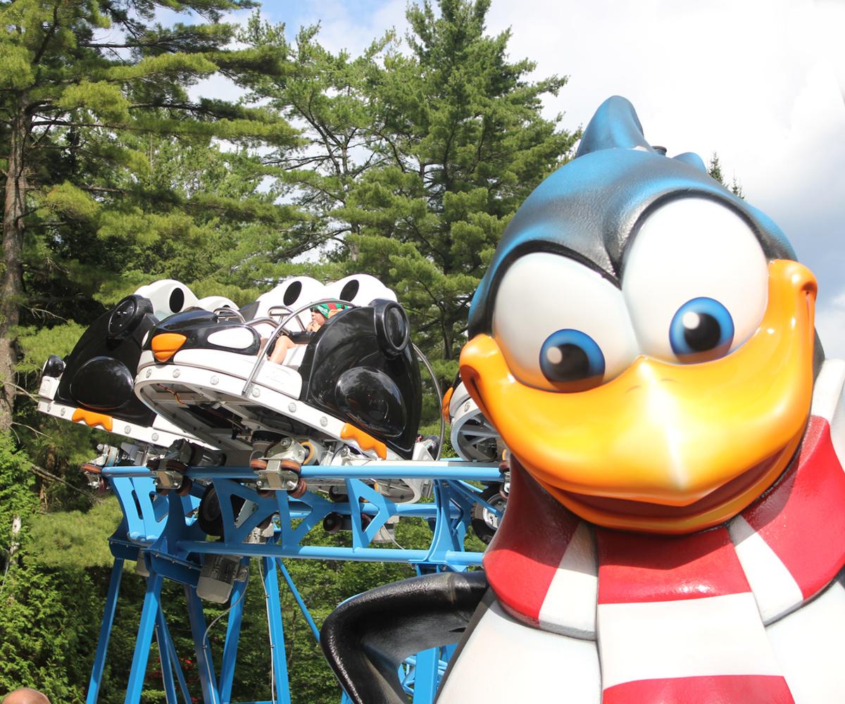 Peppermint Penguin Coaster