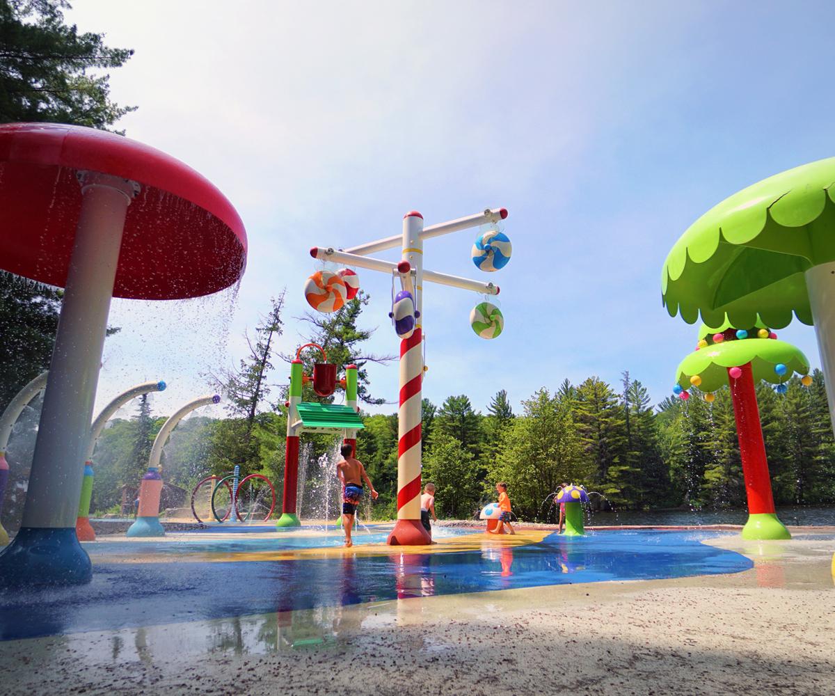 Santa's Spray & Play Beach Zone