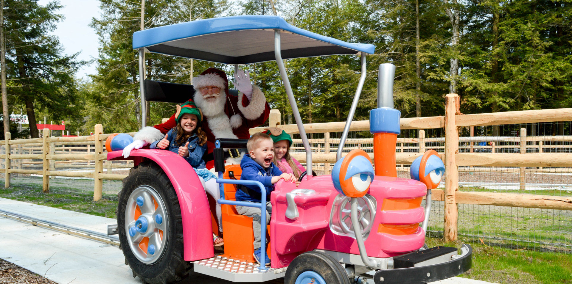 Santa on a ride