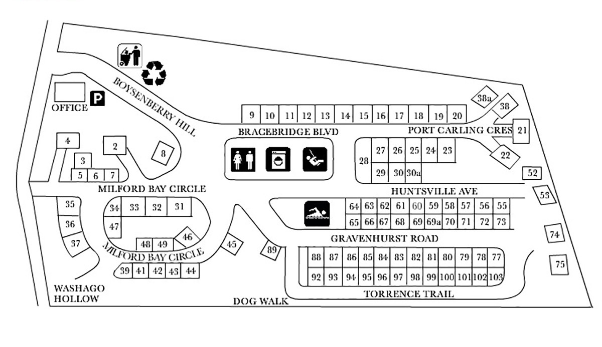 Santa's Muskoka Ridge Campground map