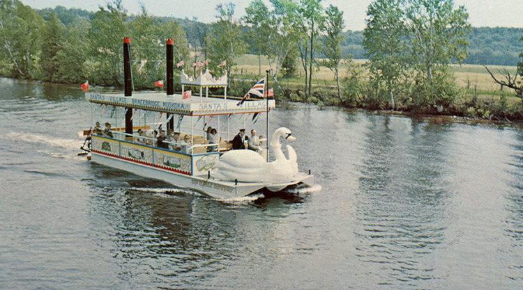 Vintage swan ride