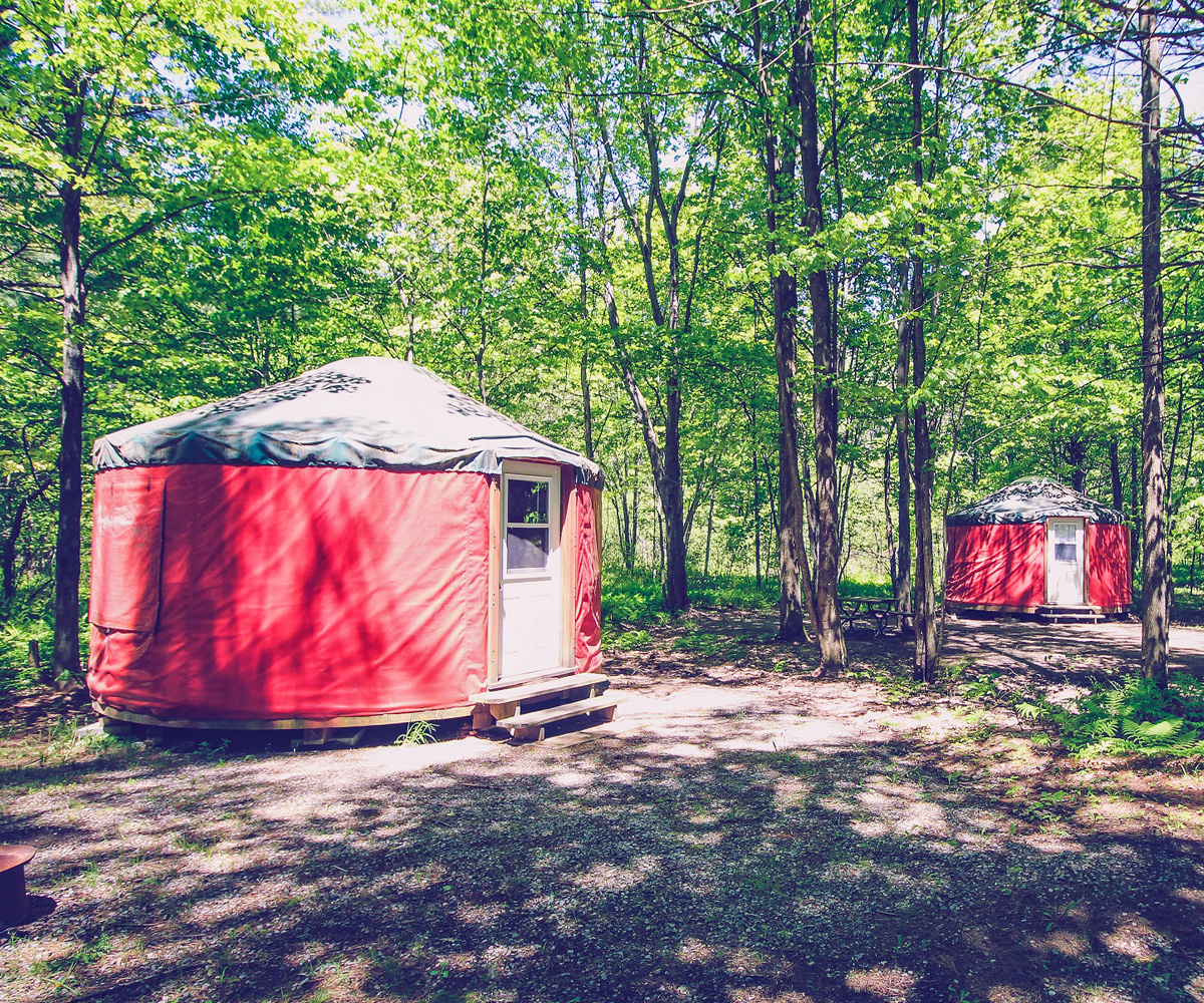 Whispering Pines yurt